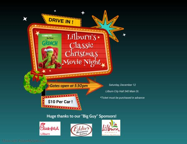 SOLD OUT - Lilburn's Classic Christmas Drive-In Movie
