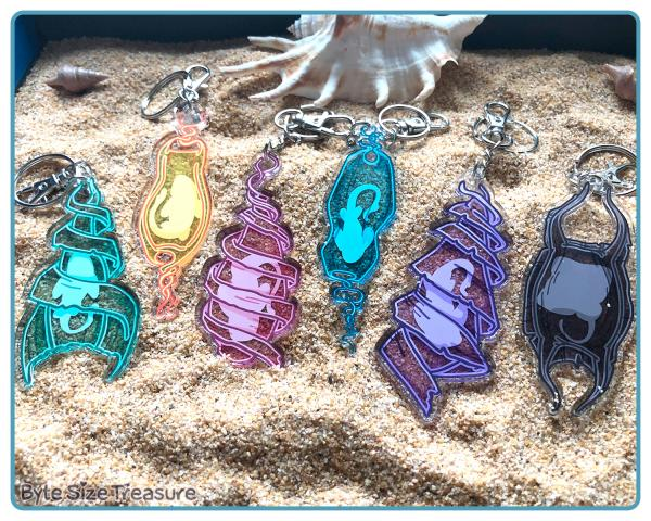 Shark Egg Keychains