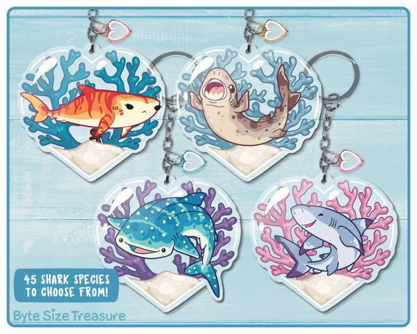 45 Shark Species Acrylic Keychain