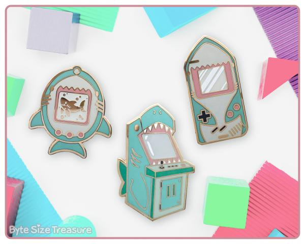 GamerShark Enamel Pins
