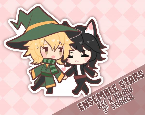 Ensemble Stars Basic / Music: UNDEAD Kaoru x Rei Witch and Cat Familiar Couple Sticker