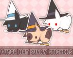 Witch Hat Bunny Stickers