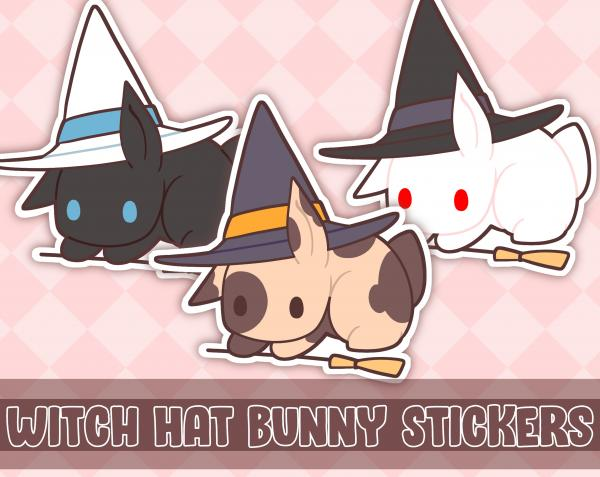 Witch Hat Bunny Stickers picture
