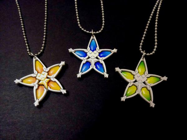 Kingdom Hearts : Birth by Sleep Wayfinder Necklace - Aqua, Terra or Ventus