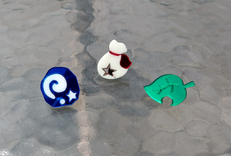 Animal Crossing: Fossil, Bag o'Bells or Leaf pins