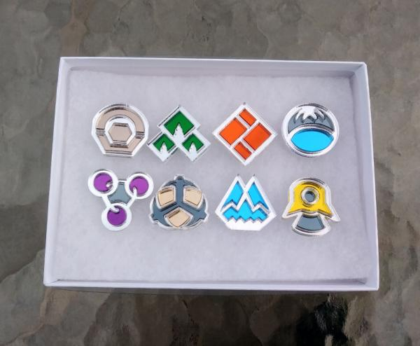 Pokemon Sinnoh Region 8 Piece Gym Leader Badge Set