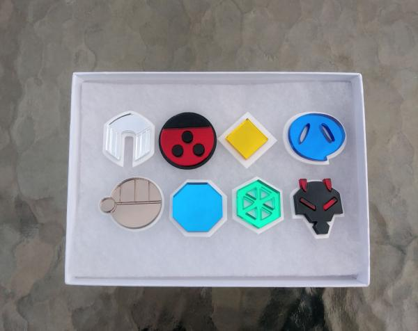 Pokemon Johto Region 8 Piece Gym Leader Badge Set