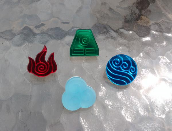 Avatar: Fire, Water, Air or Earth Pins