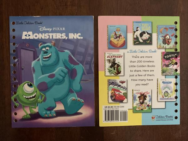 Monsters Inc.: Made to Order Journal