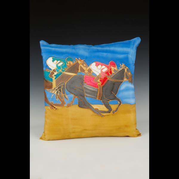 side horse pillow
