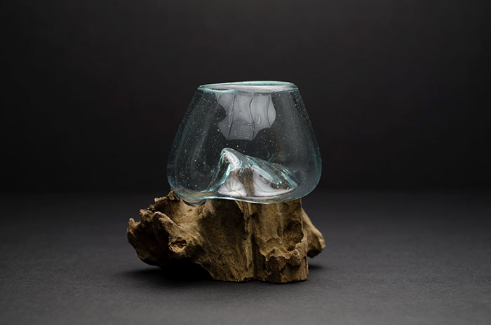 Root and Blown Glass - Small Dark Wood