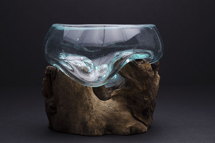 Root and Blown Glass Terrarium - Medium