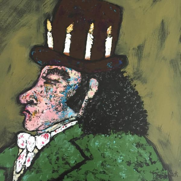 Goya Wears His Candle Hat