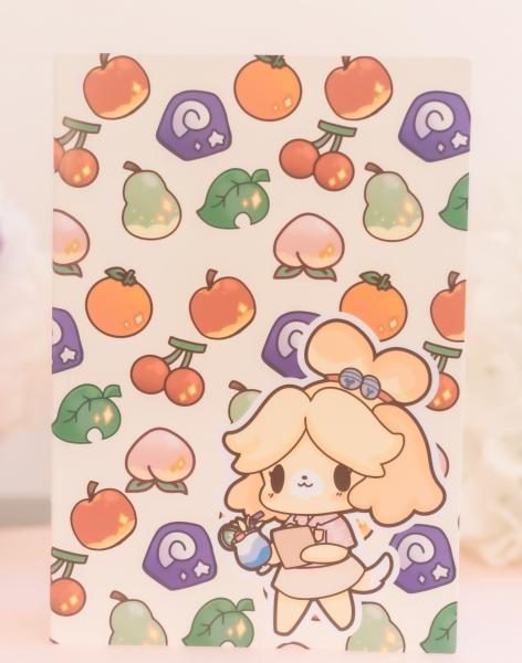 Isabelle and Nook Island notebook