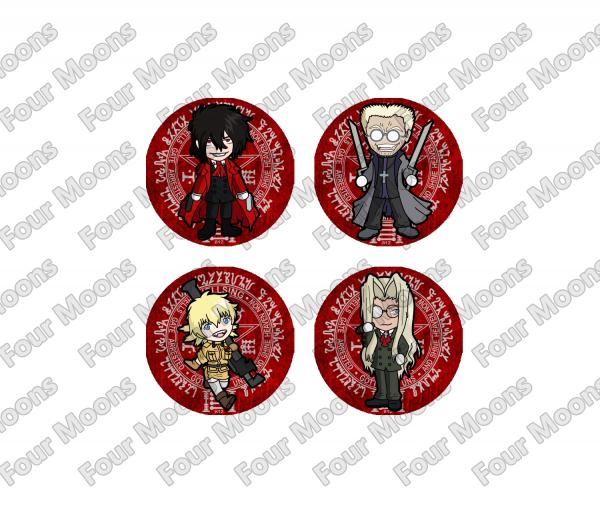 Hellsing Ultimate Button Set (4)