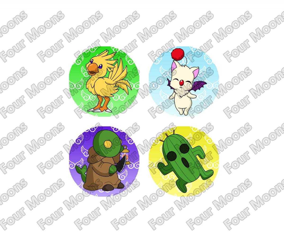 Final Fantasy Critters Button Set (4)