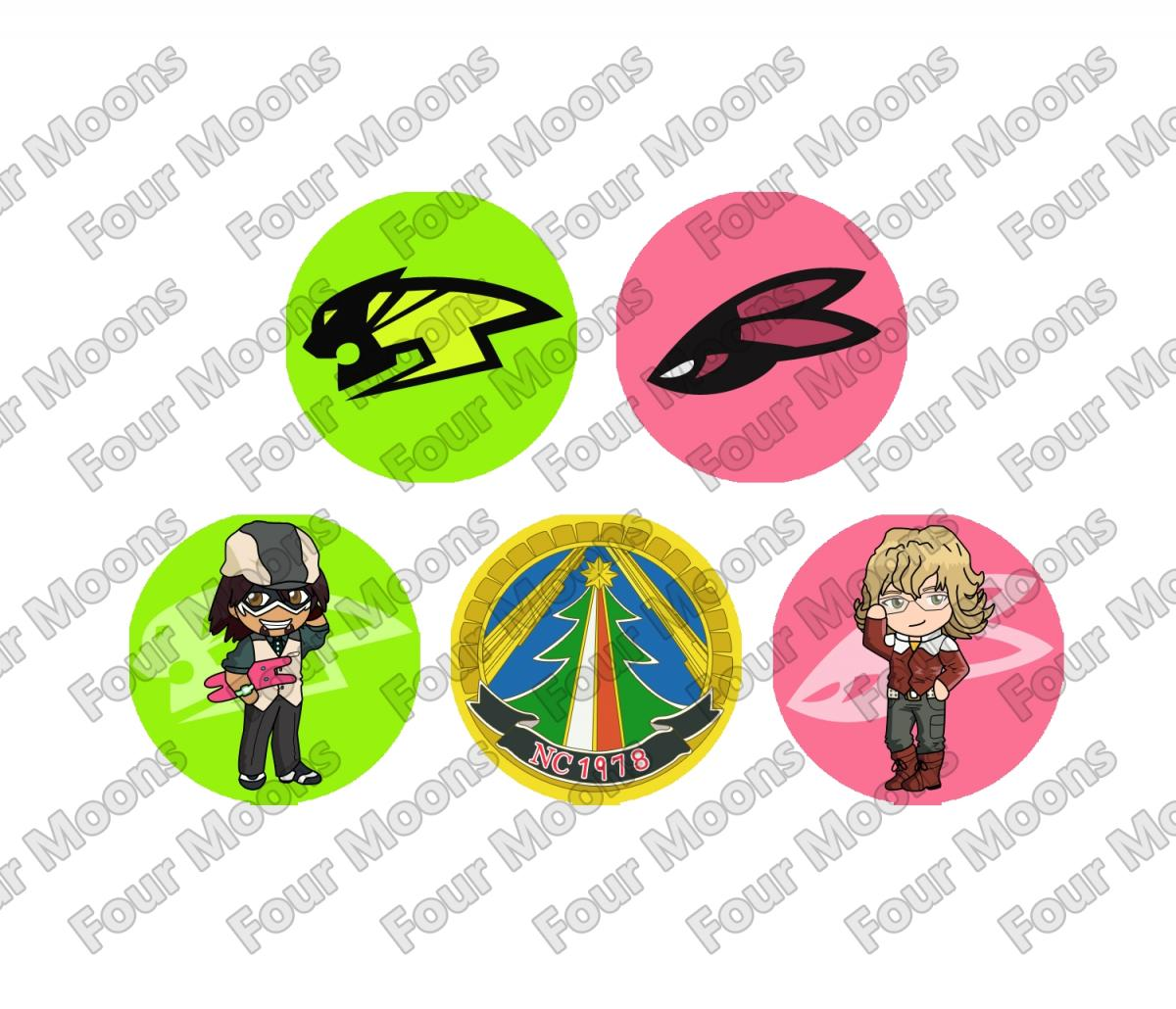 Tiger and Bunny Button Set (5)
