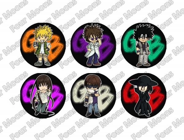 GetBackers Button Set (6)