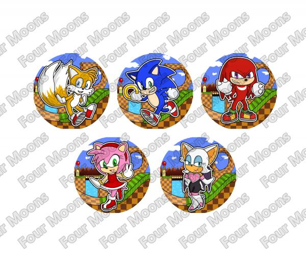 Sonic the Hedgehog Button Set (5) picture
