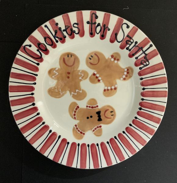 Gingerbread Cookies for Santa Plate