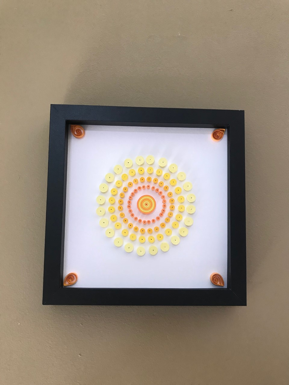 Healing Energy Yellow Mandala