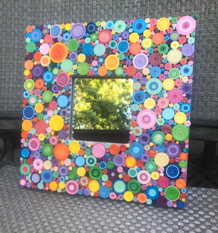 Upcycled Fanciful Mirror # 2