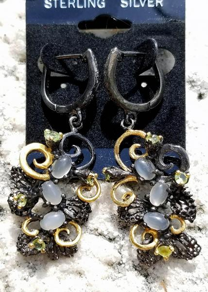 Sculptural Cats Eye Earrings picture