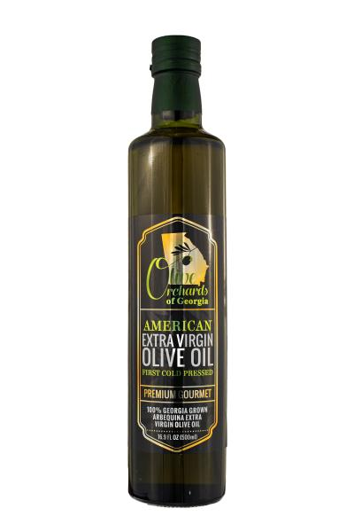 OLIVE ORCHARDS OF GEORGIA ARBEQUINA EXTRA VIRGIN OLIVE OIL-(500ml/16 OZ.)