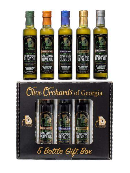 OLIVE ORCHARDS OF GEORGIA Extra Virgin Olive Oil Gift Pack ( 5 Piece ) 8.5 fl oz