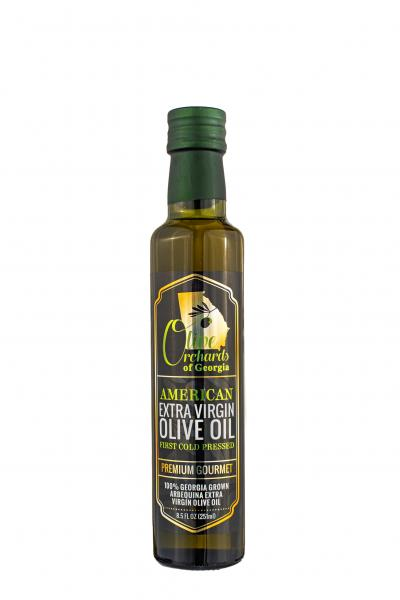 OLIVE ORCHARDS OF GEORGIA ARBEQUINA EXTRA VIRGIN OLIVE OIL-(250ml/8.5 OZ.)