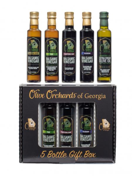 Balsamic Vinegar Gift Pack ( 5 Piece ) 8.5 fl oz-OLIVE ORCHARDS OF GEORGIA