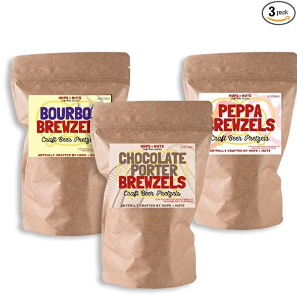 BREWZELS Craft Pretzel Sampler ~ (3) 4.2 oz Pouches