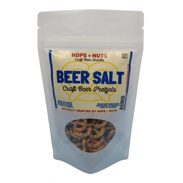 Beer Salt Craft Pretzels 3.2 oz Pouch