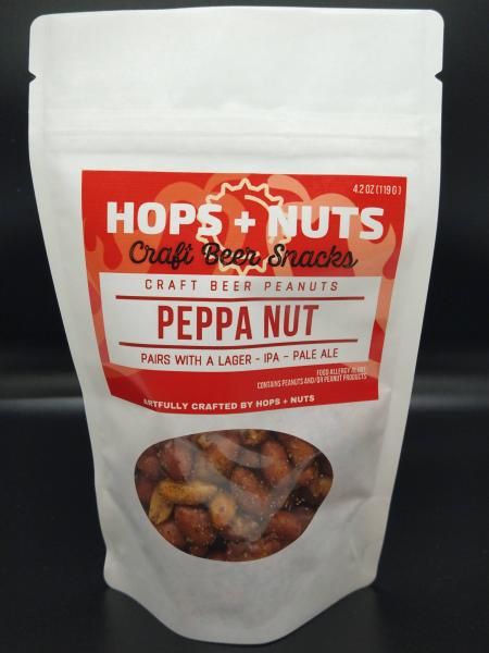 Peppa Nut Spicy Peanuts 4.2 oz Pouch