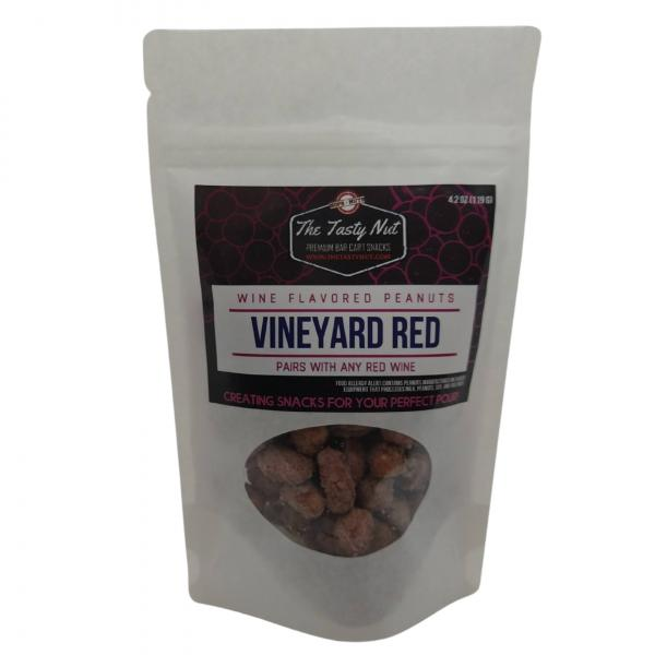 Vineyard Red Wine Snacks Peanuts 4.2 oz Pouch