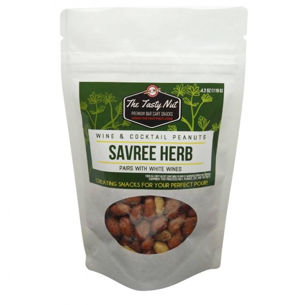 Savree Herb Wine Snacks Peanuts 4.2 oz Pouch