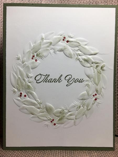 Embossed Wreath - Thank You