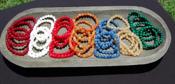 8 mm natural gemstone elastic bracelet
