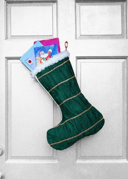 Christmas Stocking - Holiday Gems Elegant African Print Indoor/Outdoor Christmas Decoration