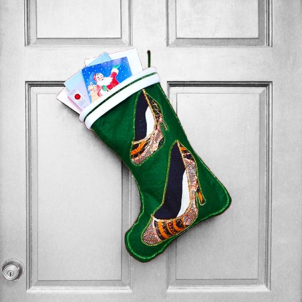 Large Christmas Stocking - Two-Step African Print Indoor/Outdoor Christmas Decoration