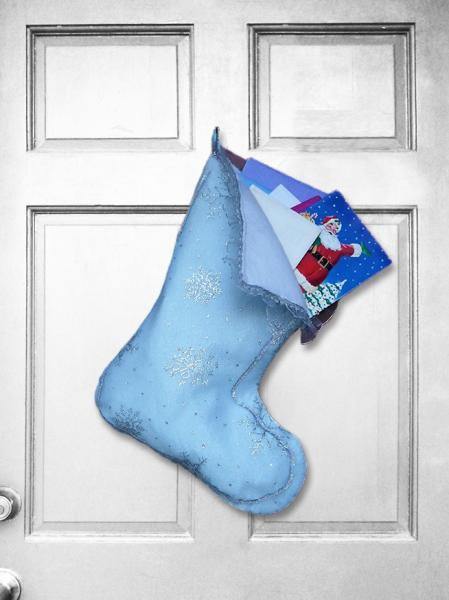 Large Christmas Stocking - Frozen Ice Indoor/Outdoor Christmas Decoration