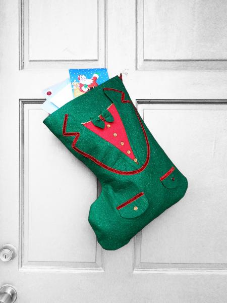 Large Christmas Stocking - Life of the Party Indoor/Outdoor Christmas Decoration