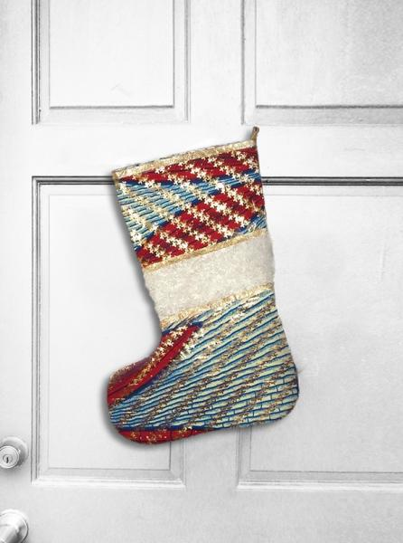 Starry Express African Wax Print Christmas Stocking