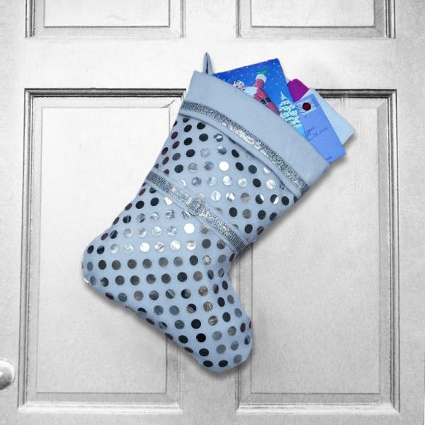 Large Christmas Stocking - Year of Reflection White Indoor/Outdoor Christmas Decoration
