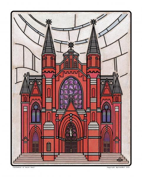 "Cathedral of Saint Paul 8x10"" fine art print"