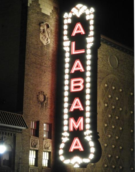 Alabama Theater Side Sign
