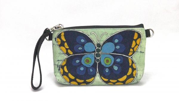 Blue Butterfly clutch