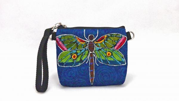 Dragonfly Blue clutch