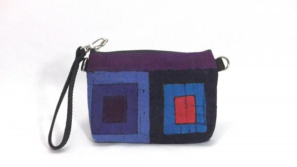 Purple Squares Clutch