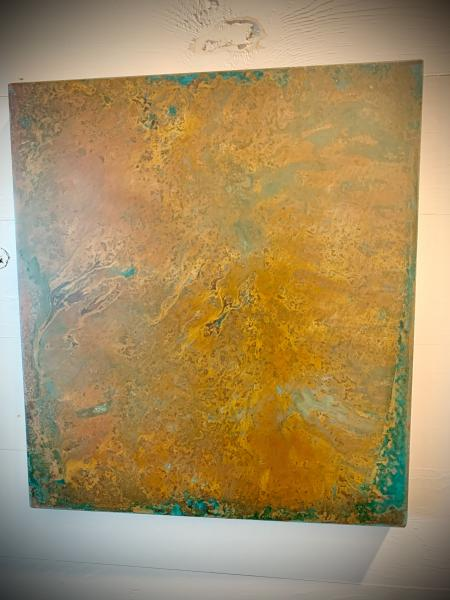 Copper Hanging Panel w Patina